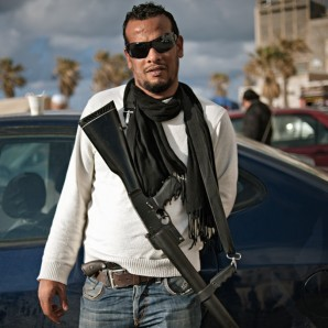 A self-armed young man in Benghazi.